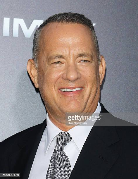 """Actor/director Tom Hanks attends the """"Sully"""" New York premiere at Alice Tully Hall, Lincoln Center on September 6, 2016 in New York City."""