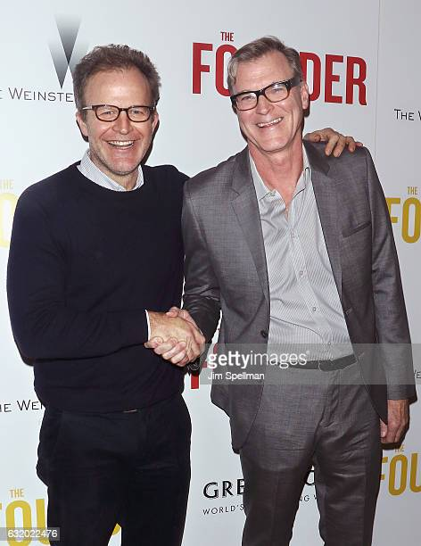 Actor/director Tom McCarthy and director John Lee Hancock attend the screening of 'The Founder' hosted by The Weinstein Company with Grey Goose at...