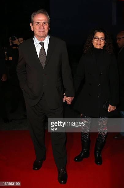 US actor/director Tommy Lee Jones and his wife Dawn Laurel Jones arrive to attend the inauguration ceremony of the Cite du cinema a film studios...
