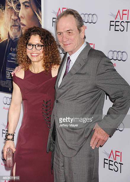 Actor/director Tommy Lee Jones and wife Dawn LaurelJones attend the 'The Homesman' premiere during AFI FEST 2014 presented by Audi at the Dolby...