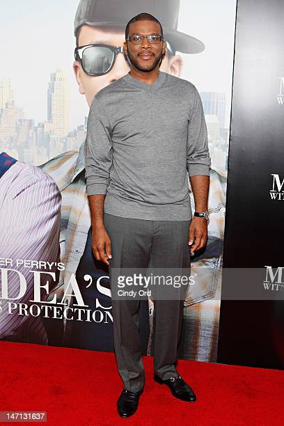 Actor/director Tyler Perry attends Tyler Perry's Madea's Witness Protection New York Premiere at AMC Lincoln Square Theater on June 25 2012 in New...