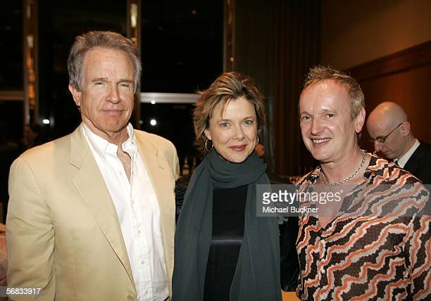 Actor/director Warren Beatty actress Annette Bening and director Sean Mathias attend the after party for the opening of The Cherry Orchard at the...