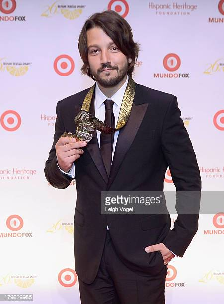 Actor/director/producer Diego Luna receives the Inspira Award at the 26th Annual Hispanic Heritage Awards presented by Target at the John F Kennedy...