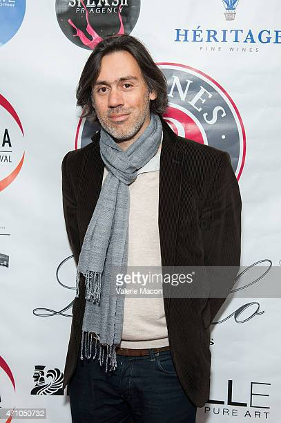 Actor/director/writer Emmanuel Mouret arrives at COLCOA French Film Festival Barnes After Party at Heritage Fine Wines on April 24 2015 in Beverly...