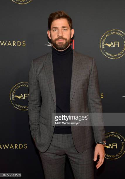 Actordirectorwriter John Krasinski attends the 19th Annual AFI Awards at Four Seasons Hotel Los Angeles at Beverly Hills on January 4 2019 in Los...