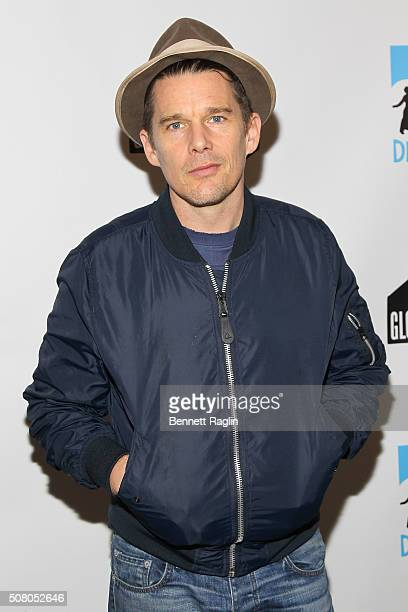 Actor/DreamYard Board member Ethan Hawke attends the BronxWide Poetry Slam Finals And Event hosted by DreamYard Project at Joe's Pub on February 2...