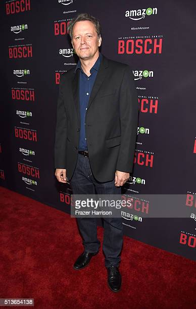 Actore Steven Culp arrrives at the Premiere Of Amazon's 'Bosch' Season 2 at SilverScreen Theater at the Pacific Design Center on March 3 2016 in West...