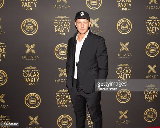 Actor/Event Producer Christian Hicks attends Darren Dzienciol & Richie Akiva's Oscar Party 2021 on April 25, 2021 Bel Air, California.