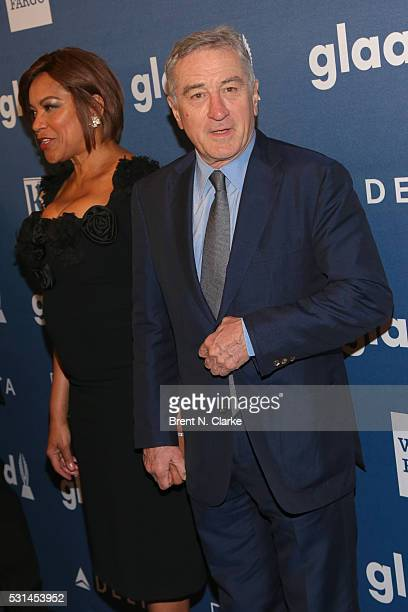 Actor/Excellence in Media Award recipient Robert De Niro and Grace Hightower De Niro attend the 27th Annual GLAAD Media Awards held at The...