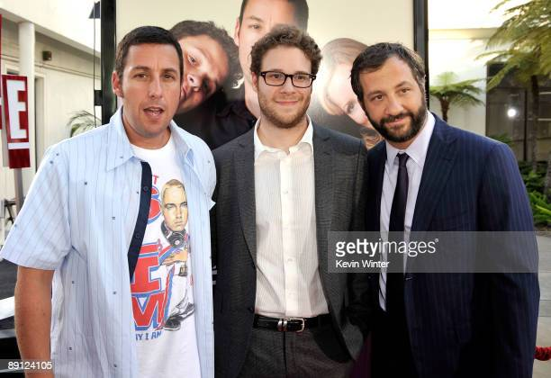Actor/executive producer Adam Sandler actor Seth Rogen and director/writer/producer Judd Apatow attend the premiere of Universal Pictures' Funny...