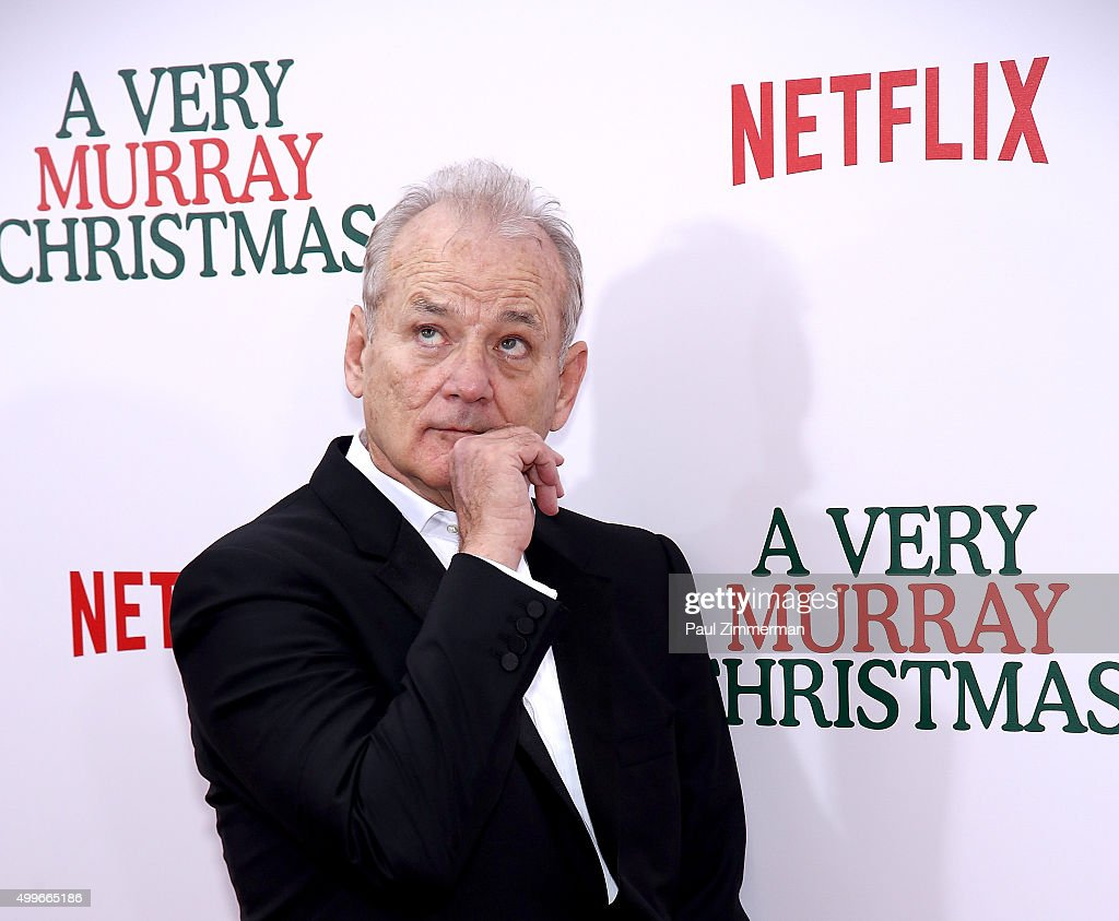 Actor/Executive Producer Bill Murray attends 'A Very Murray Christmas' New York premiere at Paris Theater on December 2, 2015 in New York City.