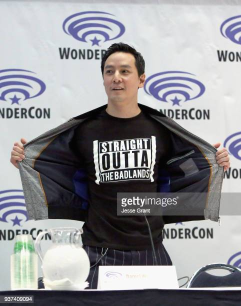 Actor/executive producer Daniel Wu onstage during AMC's 'Into the Badlands' panel during WonderCon at Anaheim Convention Center on March 24 2018 in...