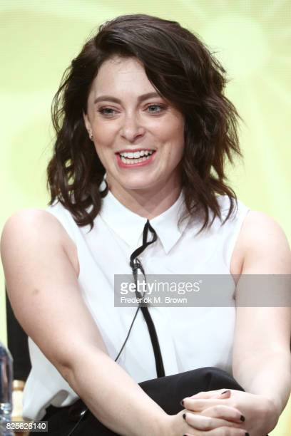 Actor/executive producer Rachel Bloom of 'Crazy ExGirlfriend' speaks onstage during the CW portion of the 2017 Summer Television Critics Association...