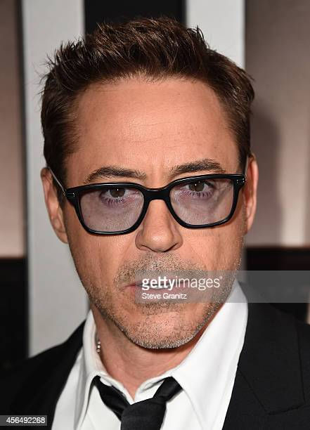 """Actor/Executive Producer Robert Downey Jr. Arrives for the Los Angeles premiere of """"The Judge"""" at AMPAS Samuel Goldwyn Theater on October 1, 2014 in..."""