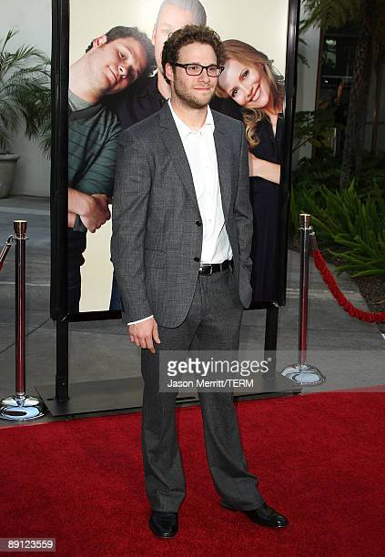Actor/Executive Producer Seth Rogen arrives at the premiere Of Universal Pictures' Funny People held at ArcLight Cinemas Cinerama Dome on July 20...