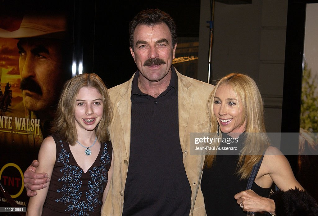 Actor/executive producer Tom Selleck, wife Jillie Mack and daughter Hannah