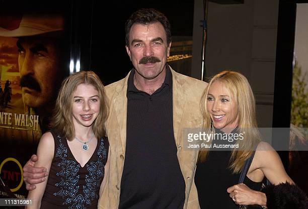 Actor/executive producer Tom Selleck wife Jillie Mack and daughter Hannah
