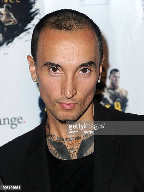 Actor/fighter Luis Da Silva Jr arrives for the Premiere Of RLJ Entertainment's Kickboxer Vengeance held at iPic Theaters on August 31 2016 in Los...