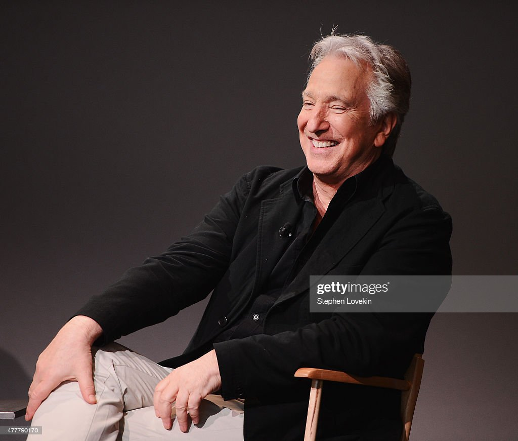 Actor/filmmaker Alan Rickman attends the Apple Store Soho: Meet The Filmmaker: Alan Rickman, 'A Little Chaos' at Apple Store Soho on June 19, 2015 in New York City.
