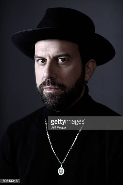 Actor/filmmaker Brett Gelman from the short film 'Dinner With Family' poses for a portrait during the WireImage Portrait Studio hosted by Eddie Bauer...