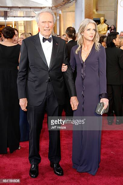 Actor/filmmaker Clint Eastwood and Christina Sandera attend the 87th Annual Academy Awards at Hollywood & Highland Center on February 22, 2015 in...
