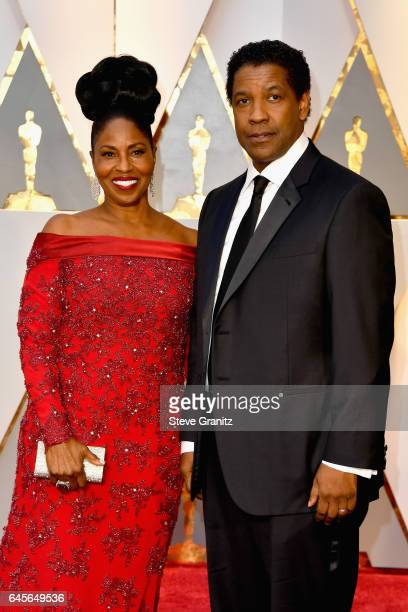 Actor/filmmaker Denzel Washington and Pauletta Washington attend the 89th Annual Academy Awards at Hollywood Highland Center on February 26 2017 in...