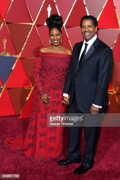Actor/filmmaker Denzel Washington and Pauletta Washington attend the 89th Annual Academy Awards at Hollywood & Highland Center on February 26, 2017...