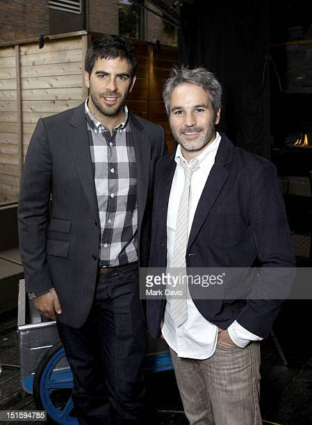 Actor/filmmaker Eli Roth and producer Jeff Abramson attend Canon Celebrates the Art of Cinematography at TIFF Hosted by Eli Roth during the 2012...