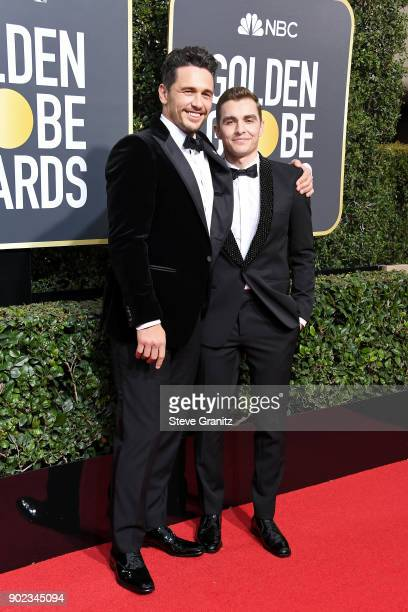 Actor/filmmaker James Franco and actor Dave Franco attend The 75th Annual Golden Globe Awards at The Beverly Hilton Hotel on January 7 2018 in...