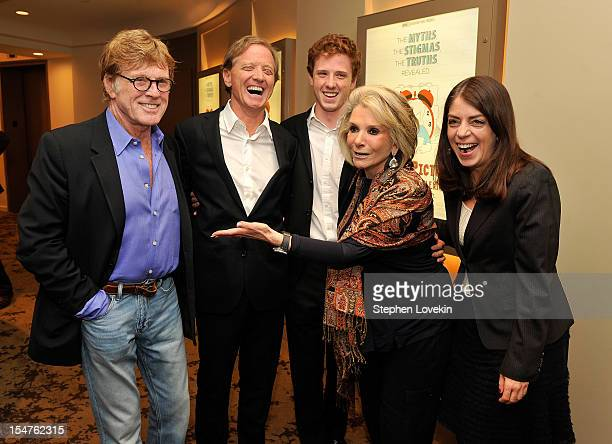 Actor/filmmaker Robert Redford director James Redford film subject Dylan Redford president of HBO Documentary Films Sheila Nevins and senior vice...