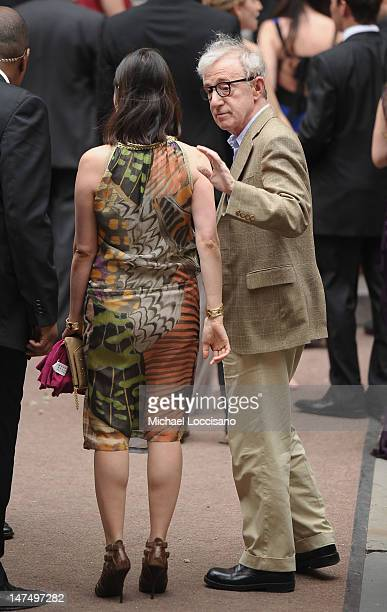Actor/filmmaker Woody Allen and his wife SoonYi Previn attend Alec Baldwin and Hilaria Thomas' wedding ceremony at St Patrick's Old Cathedral on June...