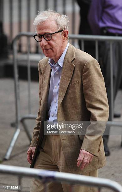 Actor/Filmmaker Woody Allen attends Alec Baldwin and Hilaria Thomas' wedding ceremony at St Patrick's Old Cathedral on June 30 2012 in New York City