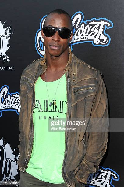 Actor/fitness model Shaka Smith attends the Grand Opening of West Coast Customs Burbank Headquarters at West Coast Customs on December 7 2014 in...
