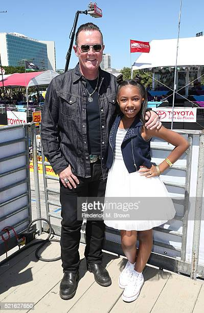 Actor/Grand Marshall Robert Patrick and singer Alexis Shafira attend the 42nd Toyota Grand Prix of Long Beach on April 16 2016 in Long Beach...