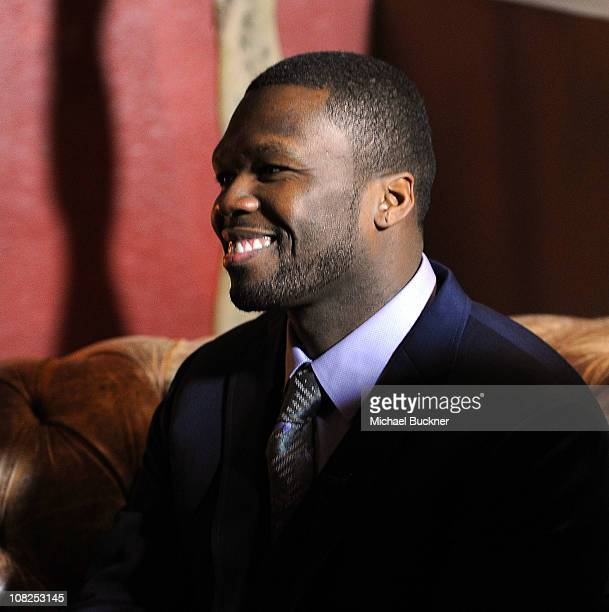 Actor/Hip Hop Performer Curtis 50 Cent Jackson speaks during an interview while at the Bing Bar on January 22 2011 in Park City Utah