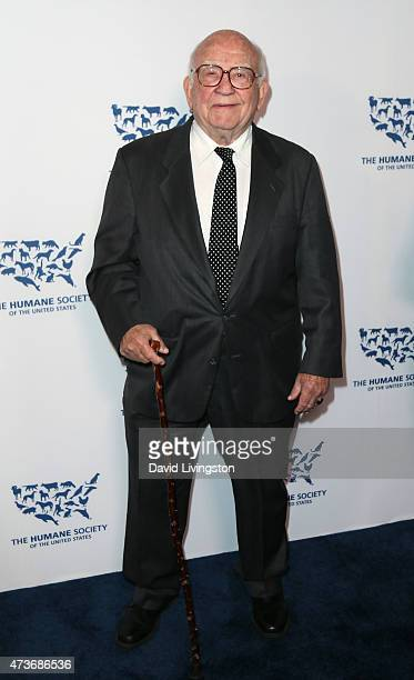 Actor/honoree Edward Asner attends the Humane Society of the United States' Los Angeles Benefit gala at the Regent Beverly Wilshire Hotel on May 16...
