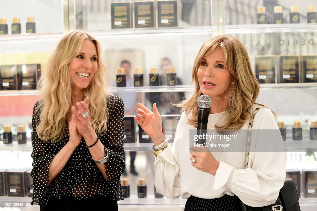 Actor/host Alana Stewart (L) and Jaclyn Smith attend Barneys New York Celebration of the Farrah Fawcett Foundation at Barneys New York Beverly Hills on May 11, 2017 in Beverly Hills, California.
