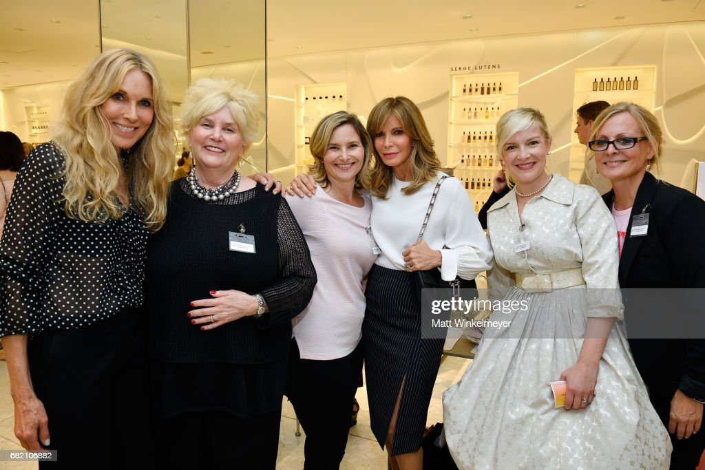Actor/host Alana Stewart, Mary Willard, actors Hope Mulbarger and Jaclyn Smith, and Farrah Fawcett Foundation angels attend Barneys New York Celebration of the Farrah Fawcett Foundation at Barneys New York Beverly Hills on May 11, 2017 in Beverly Hills, California.