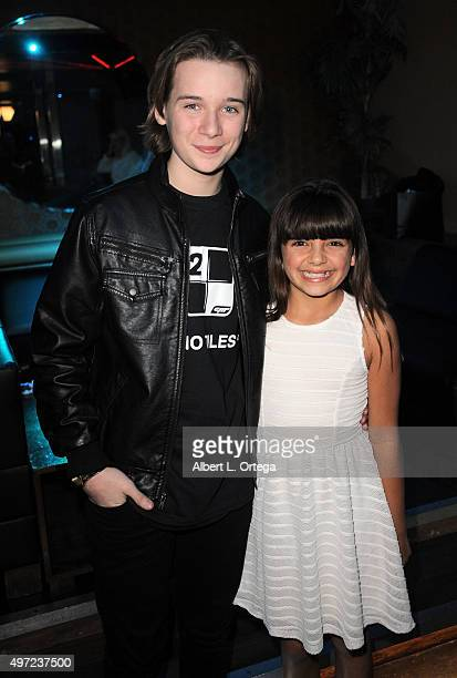 Actor/host CJ Valleroy from 'Unbroken' and actress Milly D at the Piano Tiles 2 app launch held at Couture on November 14 2015 in Hollywood California