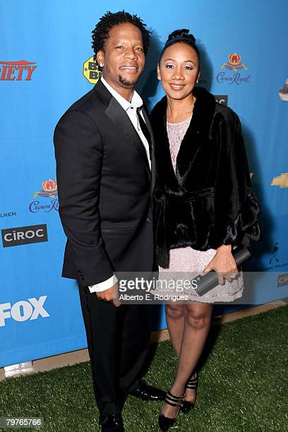 Actor/host DL Hughley and his wife Ladonna Hughley attend the 39th NAACP Image Awards after party held at the Beverly Hilton Hotel on February 14...