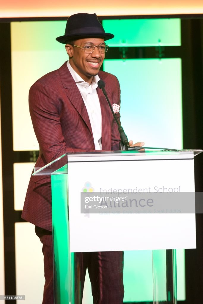 Actor/Host Nick Cannon speaks onstage at the Independent School Alliance Impact Awards at the Beverly Wilshire Four Seasons Hotel on April 20, 2017 in Beverly Hills, California.