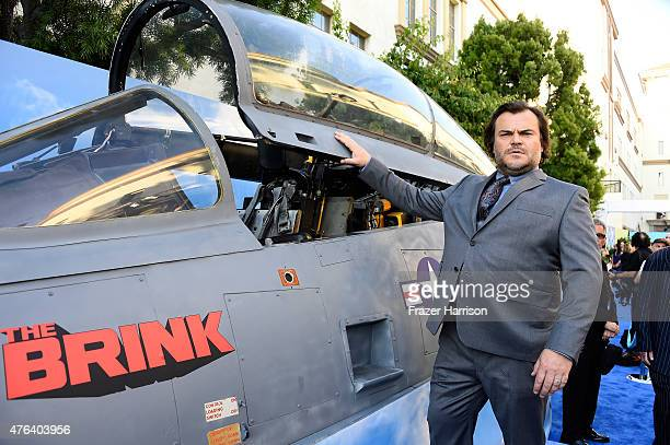 ActorJack Black arrives at the Premiere Of HBO's 'The Brink' at Paramount Studios on June 8 2015 in Hollywood California