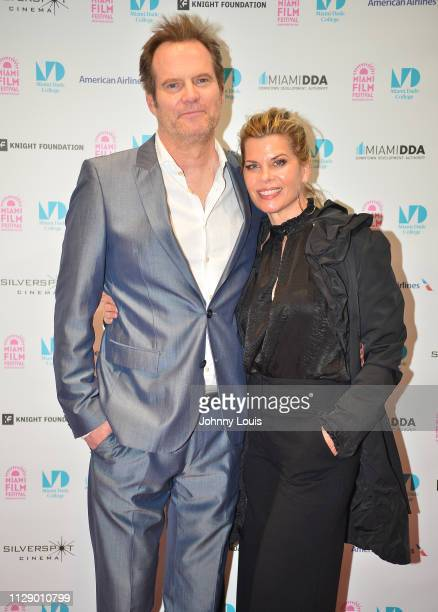ActorJack Coleman and wife actress Beth Toussaint attend the 2019 Miami Film Festival 'RATTLESNAKES' Screening at Silverspot Cinema Downtown Miami on...