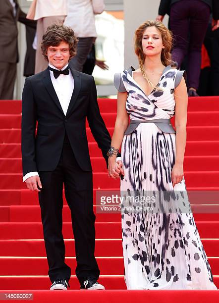 ActorJacopo Olmo Antinori and actress Tea Falco attend the Io E Te Premiere during the 65th Annual Cannes Film Festival at Palais des Festivals on...