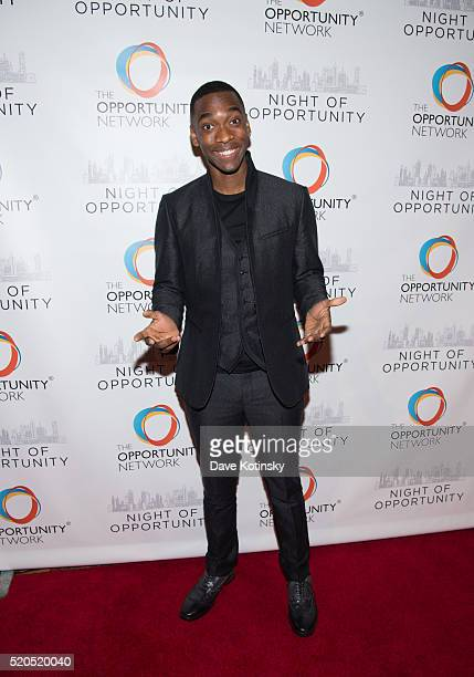 ActorJay Pharoah attends The Opportunity Network's 2016 Night Of Opportunity Gala at Cipriani Wall Street on April 11 2016 in New York City