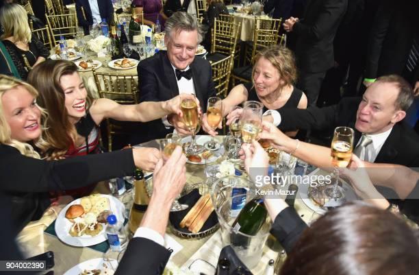 ActorJessica Biel actor Bill Pullman and Tamara Hurwitz attend The 23rd Annual Critics' Choice Awards at Barker Hangar on January 11 2018 in Santa...