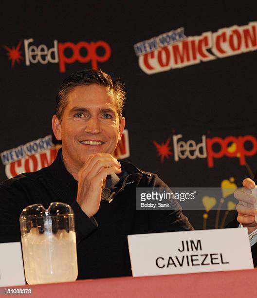 ActorJim Caviezel attends the 'Person of Interest' Presentation at the 2012 New York Comic Con at the Javits Center on October 13 2012 in New York...