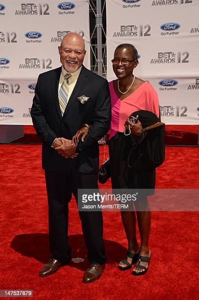 ActorJohn Beasley and wife Judy Beasley arrive at the 2012 BET Awards at The Shrine Auditorium on July 1 2012 in Los Angeles California