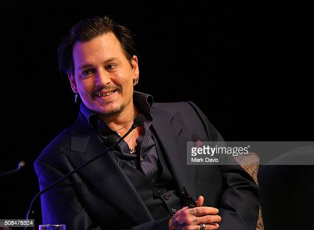 ActorJohnny Depp speaks at the Maltin Modern Master award tribute during the 31st Santa Barbara International Film Festival at the Arlington Theater...