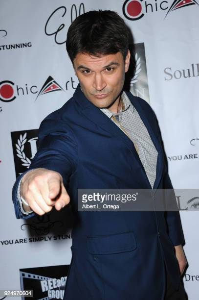 ActorKash Hovey arrives for the 4th Annual Roman Media PreOscars Hollywood Event Championing Women And Diversity In Film held at Paloma on February...